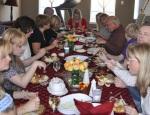 Enjoying the feast